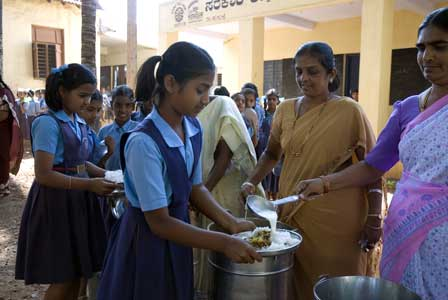 <span>$30</span> can provide one meal for 25 Students in India.
